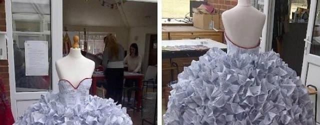 I documenti del divorzio come stoffa per l'abito da sposa