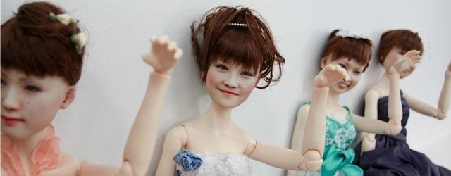 Bambole 3D per le giapponesi in ricordo del loro matrimonio